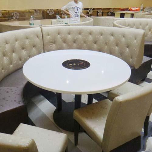 火锅店弧形沙发