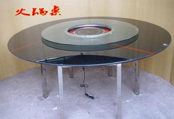 重庆玻璃火锅桌