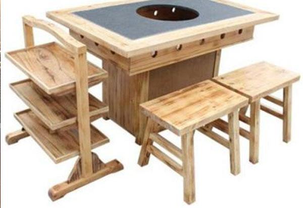 重庆实木火锅桌椅